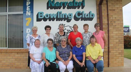 The Narrabri Women's Bowling Club's 2017 major award winners - back, Marie Redman, Debbie Gleeson, Eva Sadler, Lorraine Scott, Bev Ryan, Rhonda Welchman, front, Heather Caton, Helen Woodward, Val Falkiner, Janet Coleman and Sue Soloman.