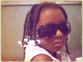 Photo: Kaleya looks cool in my shades