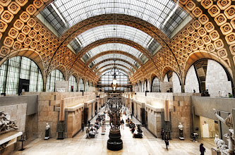 Photo: Musée d'Orsay - Orsay Museum in Paris, France (The Orsay)  One of my favorite museums! I'm a huge fan of Impressionism, and this museum has an amazing collection. It also houses one of the most famous paintings by Manet - Le dejeuner sur l'herbe (Wikipedia). I've always heard about and studied this painting, so it was of particular interest to me. When I saw it in person, it was absolutely striking... I did not expect to have a reaction like that.  from the blog www.stuckincustoms.com