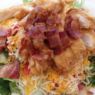 BLT Salad With Chicken Strips