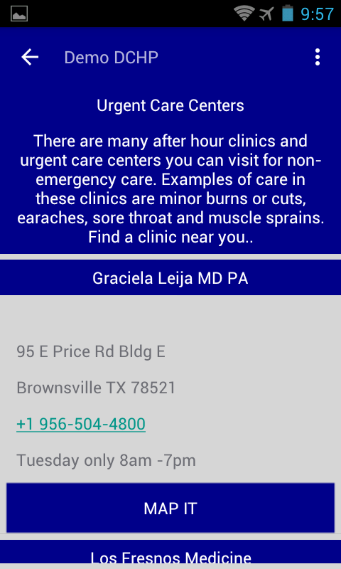 Driscoll Health Plan Mobile- screenshot