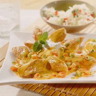 Curry Hühnchen Madras mit Minzjoghurt