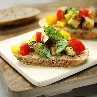 Bruschetta with Capsicum & Eggplant.