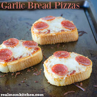 Garlic Bread Pizzas.