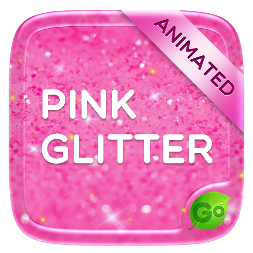 Pink Glitter GO Keyboard Animated Theme