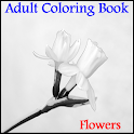 Adult Coloring Book - Flowers