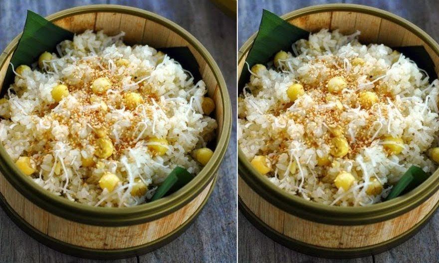 Cách nấu xôi dừa hạt sen bùi dẻo thơm ngon