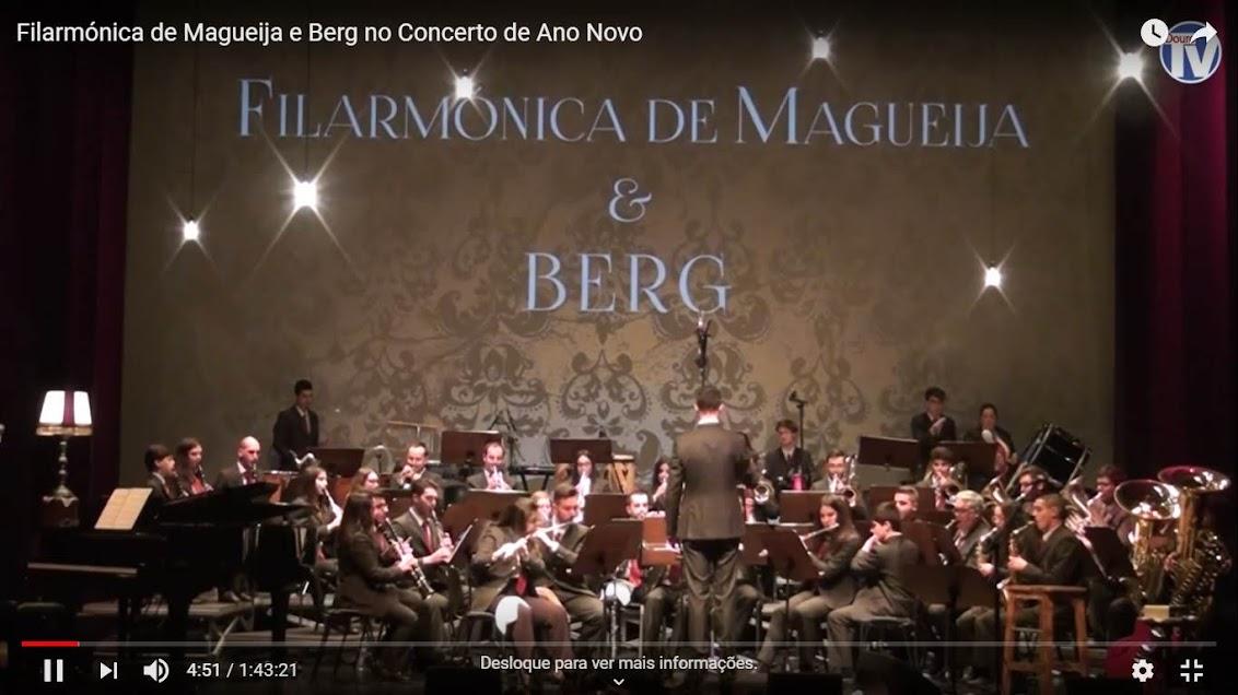 Vídeo - Filarmónica de Magueija e Berg no Concerto de Ano Novo