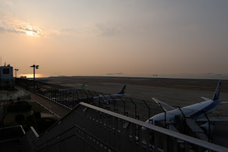 Photo: Catching an early flight to Okinawa