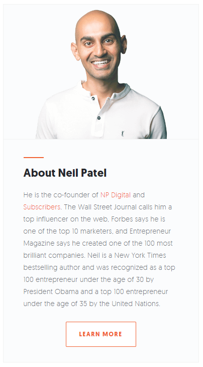 Neil Patel staring into your soul