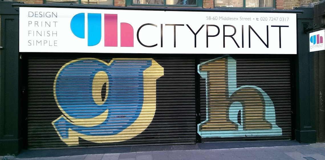 outside of GH Cityprint in London