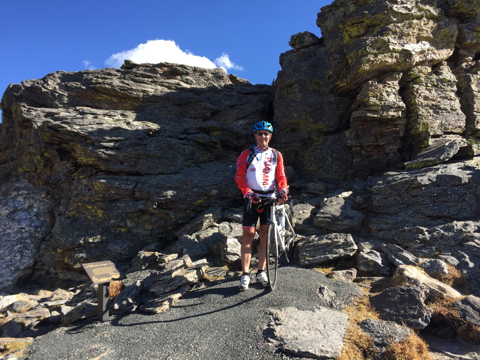 Bruce Hamilton hiking to high point of Trail Ridge
