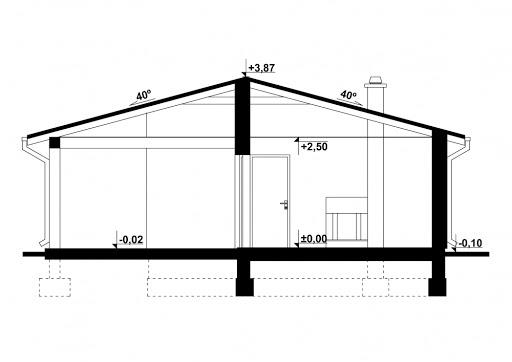 G231 - Budynek letniskowy - Przekrój