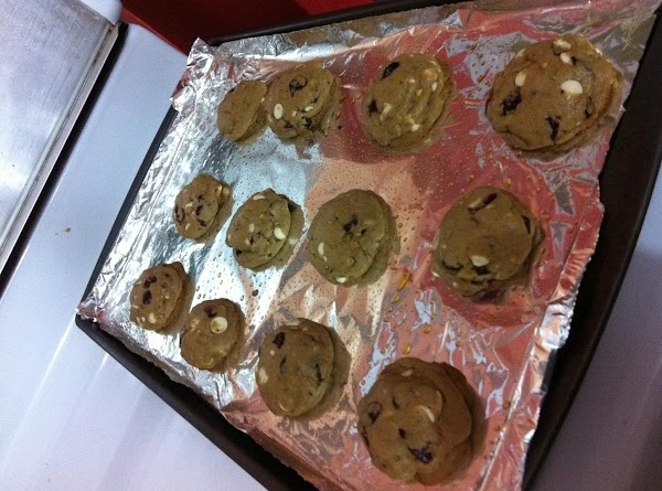 """Remove from oven, and let the cookie sheet """"slam"""" down to let the cookies..."""