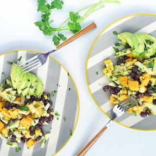 Mango, Grilled Corn and Black Bean Salad.