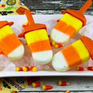 Yogurt Candy Corn Pops