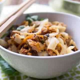 Spicy Kimchi Tuna Pasta.