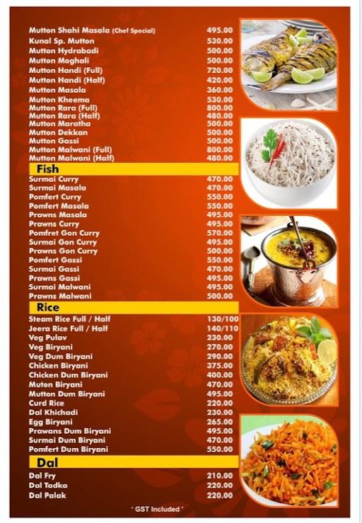Hotel Kunal menu 5