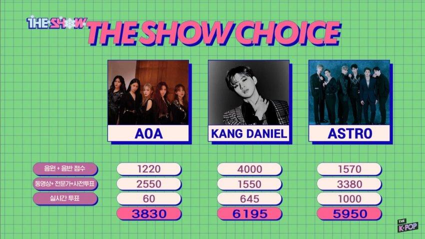 the show aoa kang daniel