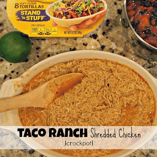 Taco Ranch Shredded Chicken [Crockpot]