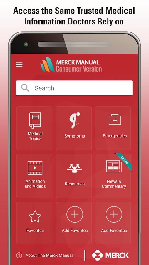 Merck Manual Consumer Version- screenshot
