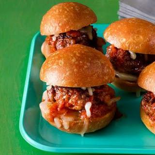 Mini Meatball Sliders.