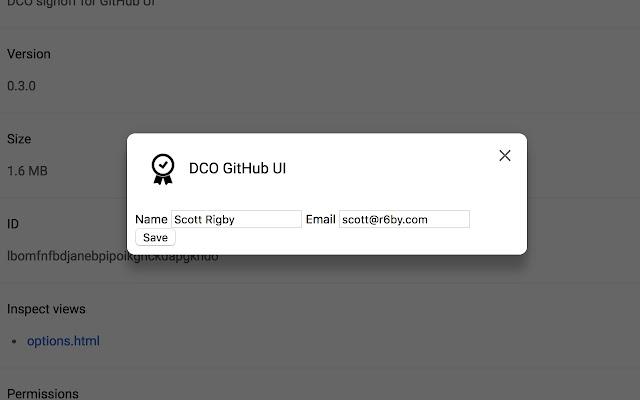 DCO GitHub UI