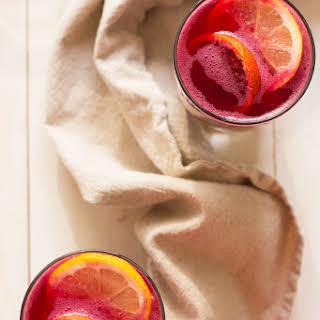 Boozy Beet & Pomegranate Lemonade.