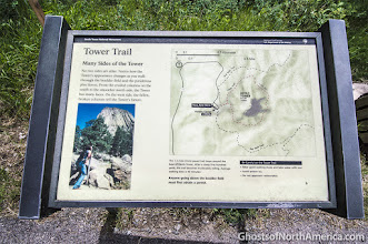 Photo: Amy and I walked the trail that circles the Tower. I highly recommend it.