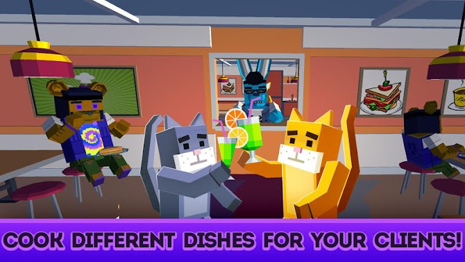 Cute Pets Cafe - Cooking Chef Simulator Android 2