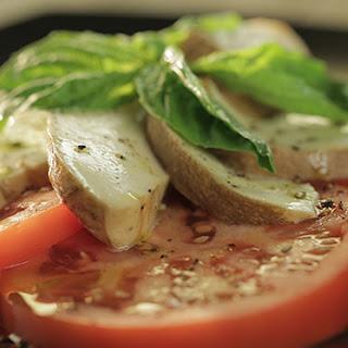 Hay-Smoked Mozzarella (Smoked Caprese Salad)