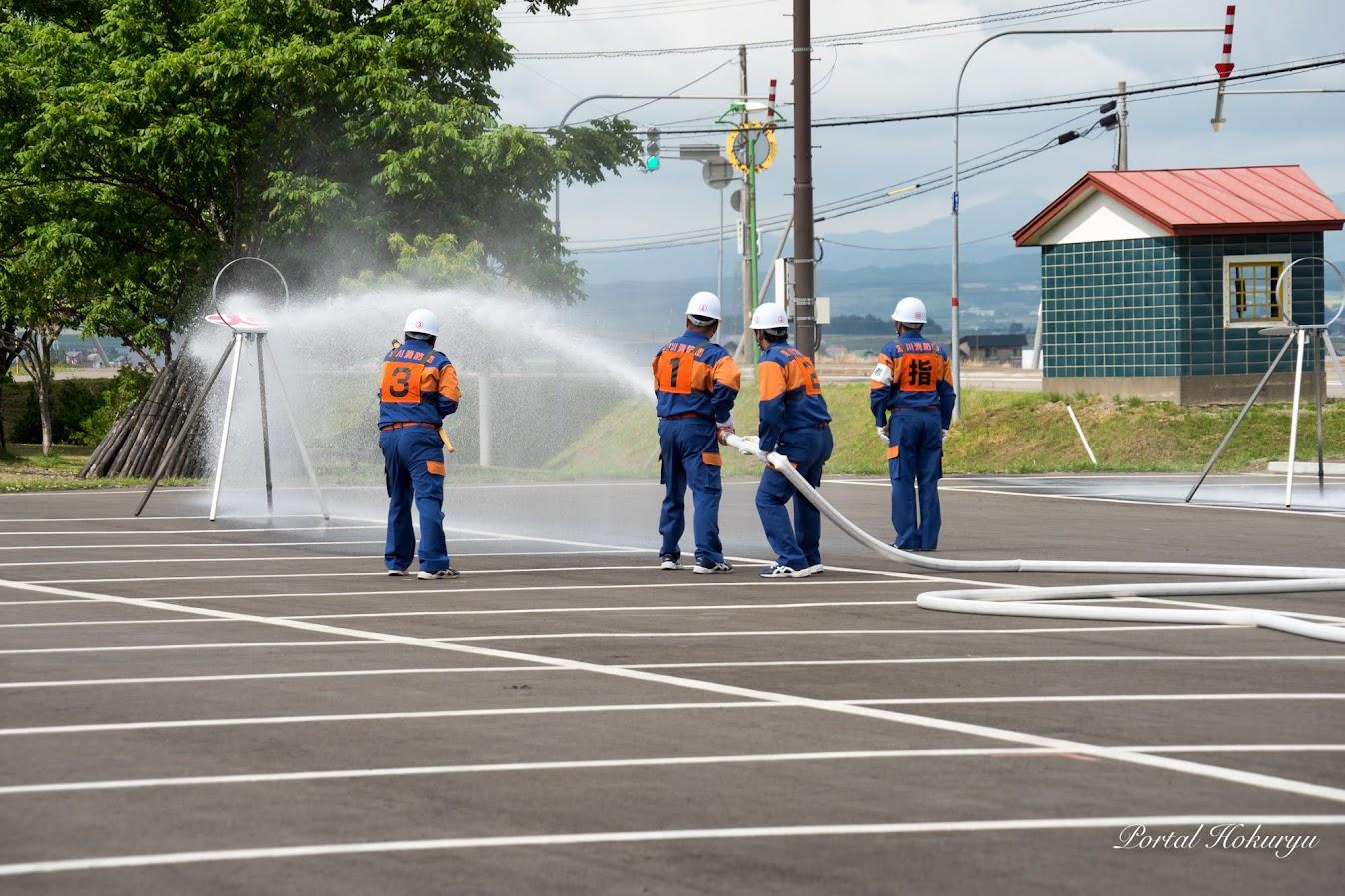 消防ポンプ操法(水出し操法)