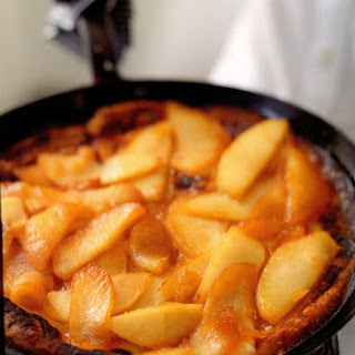 Baked Brown-Butter Sugar Pancakes with Sautéed Apples