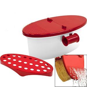Dispozitiv pentru gatit paste in cuptorul cu microunde