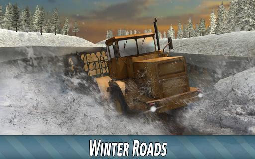 Winter Timber Truck Simulator apkmr screenshots 12