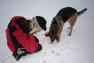 Foto: Lite svårt att få upp den i snön är det allt...