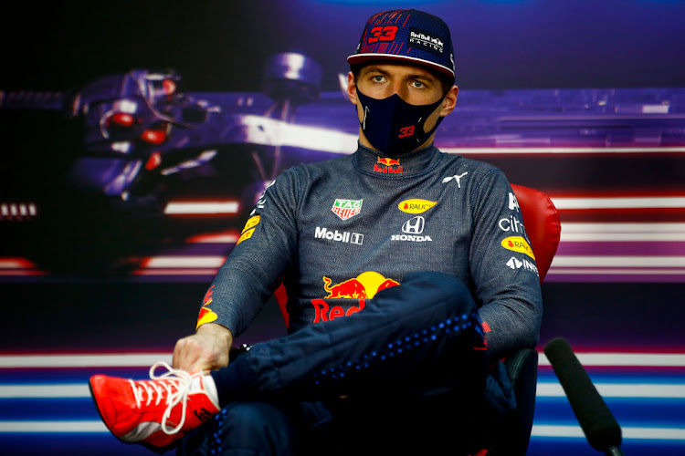 Second placed, Max Verstappen of Netherlands and Red Bull Racing talks during a Press Conference after the F1 Grand Prix of Bahrain at Bahrain International Circuit on March 28, 2021 in Bahrain, Bahrain.