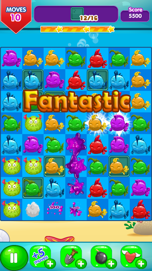 Fancy Fish Match 3- screenshot