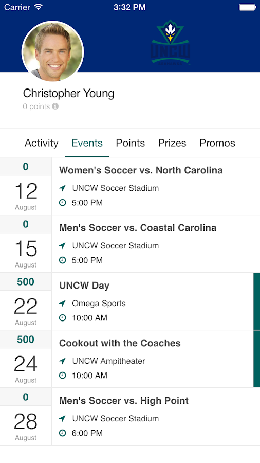 UNCW Team Teal- screenshot