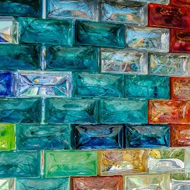 Glass Wall by Simon Shee - Artistic Objects Glass ( glass, venice, 2017, island, isola di s.giorgio maggiore, artistic object, wall, italy,  )