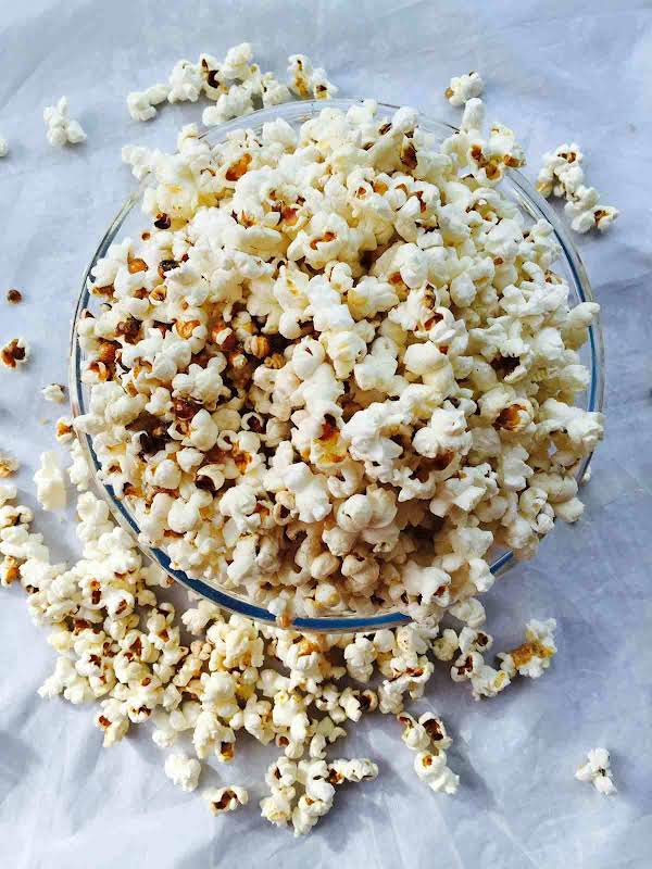 Sweet And Salty Homemade Coconut Popcorn Recipe