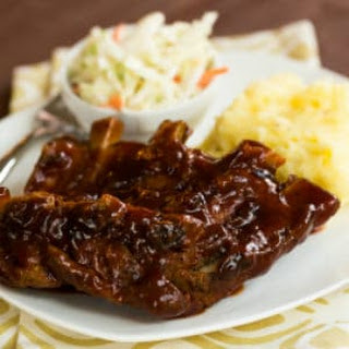 Slow Cooker BBQ Ribs.