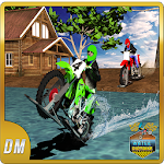 Water Dirt Bike Racing Icon