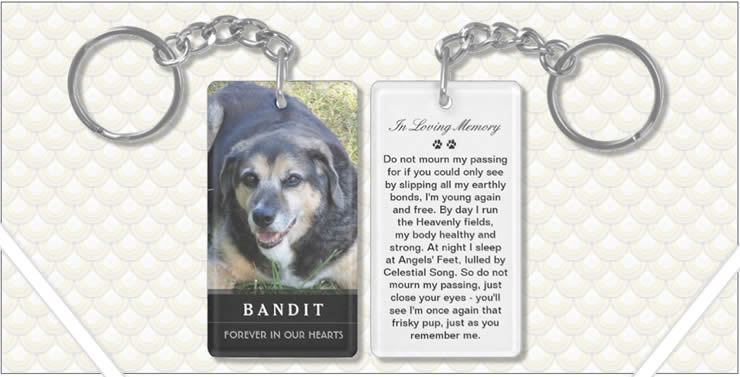 Pet Memorial Photo KeyChain - Prayer for Pets