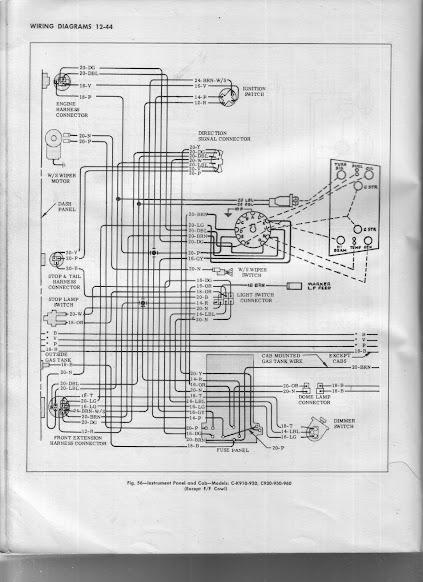 61 gmc k1000 instrument panel wiring the 1947 present