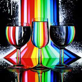 rainbow glasses by Peter Salmon - Abstract Patterns
