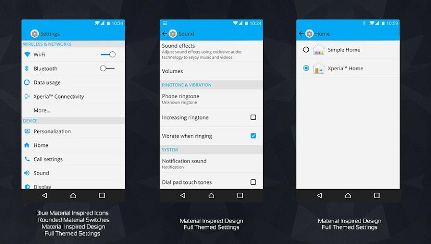 android MaTeRiaL Blue Theme KK Screenshot 3
