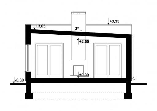 G202 - Budynek rekreacyjny z sauną - Przekrój