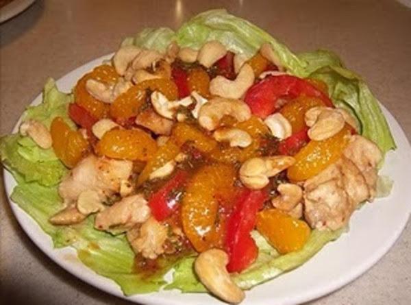 Peanut Butter Chicken With Mandarin Cashew Salad: Recipe
