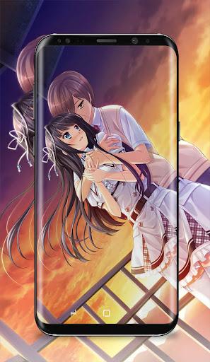 Anime Couple Kissing Wallpaper Screenshot 7